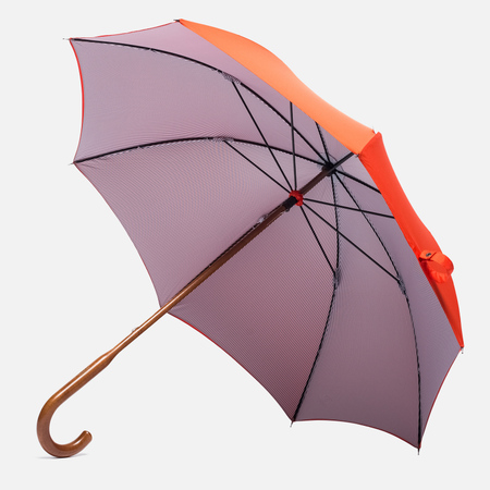 London Undercover Oxford Classic Maple Wood Umbrella Orange