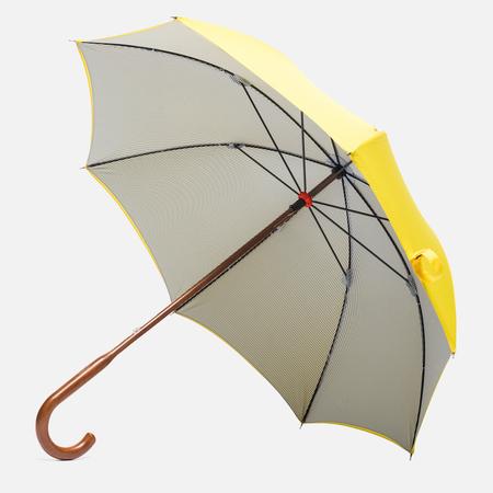 London Undercover Oxford Classic Maple  Wood Umbrella Yellow