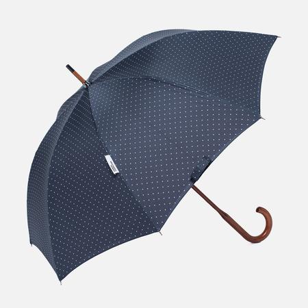 Зонт-трость London Undercover Polka Dot Classic Maple Wood Navy