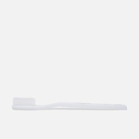 Acca Kappa Medium Nylon Rounded Tips Toothbrush White