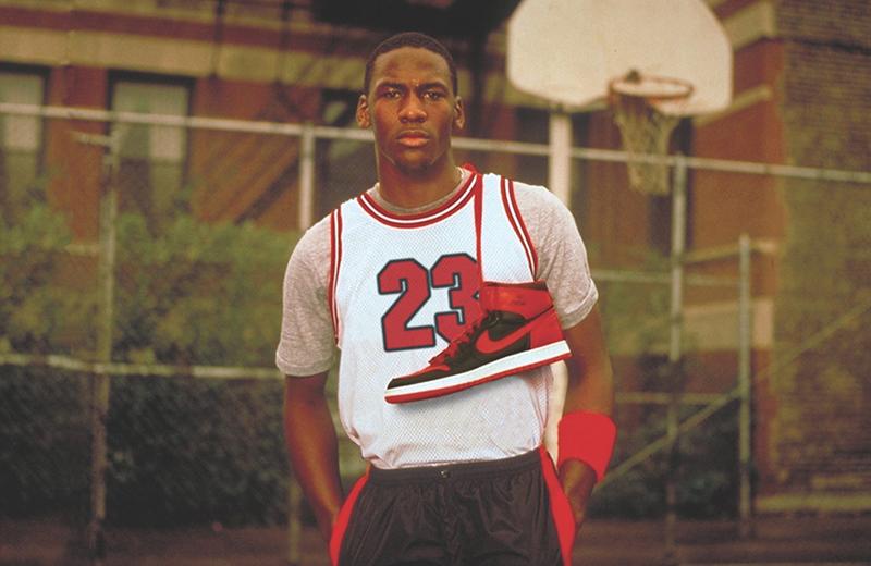 Майкл Джордан и оригинальные Air Jordan 1 «Bred»