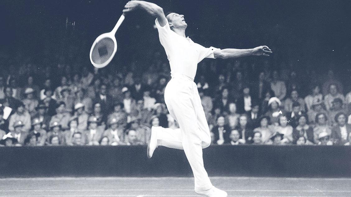 Фред Перри на Уимблдонском теннисном турнире