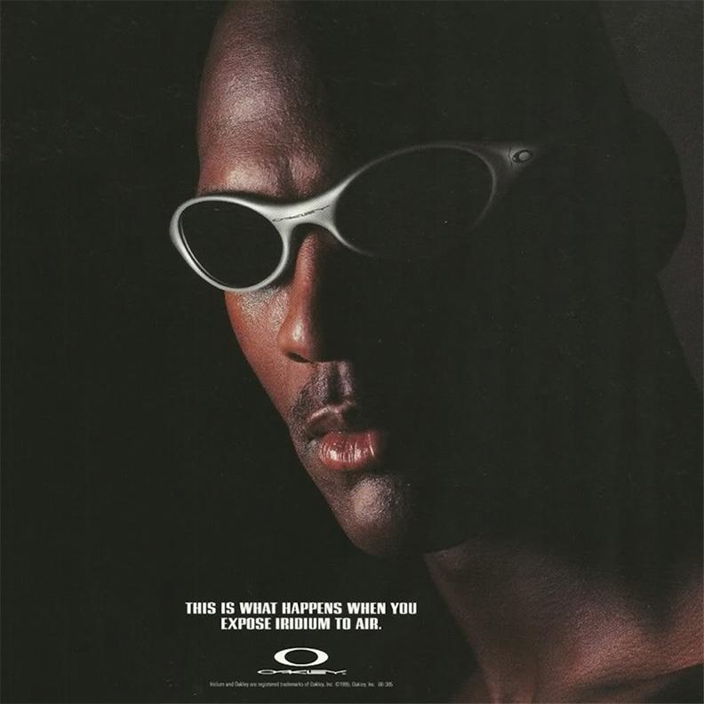 Рекламный плакат Oakley с Майклом Джорданом