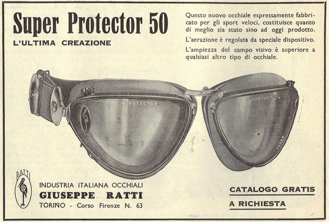 Архивная реклама модели очков «The Protector»