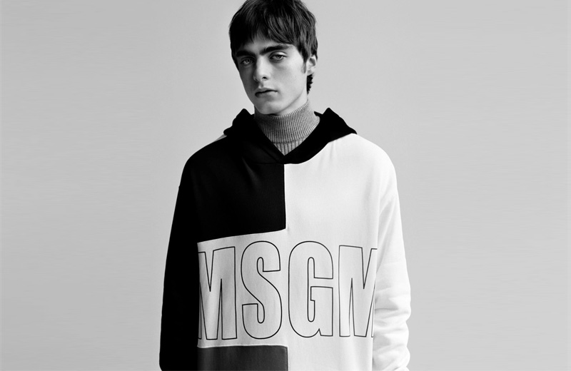 Леннон Галлахер врекламной кампании MSGM 2017-2018