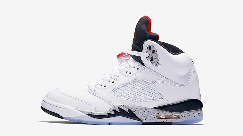 Кроссовки Air Jordan 5 White Cement
