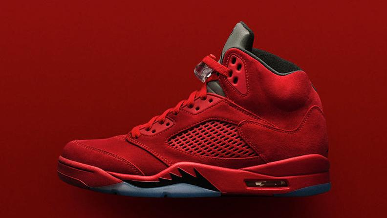 Кроссовки Air Jordan 5 Red Suede