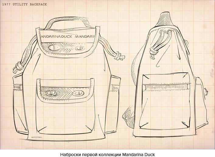 Наброски первой коллекции Mandarina Duck