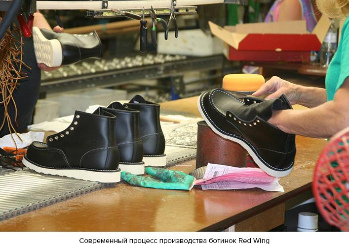 Современный процесс производства ботинок Red Wing