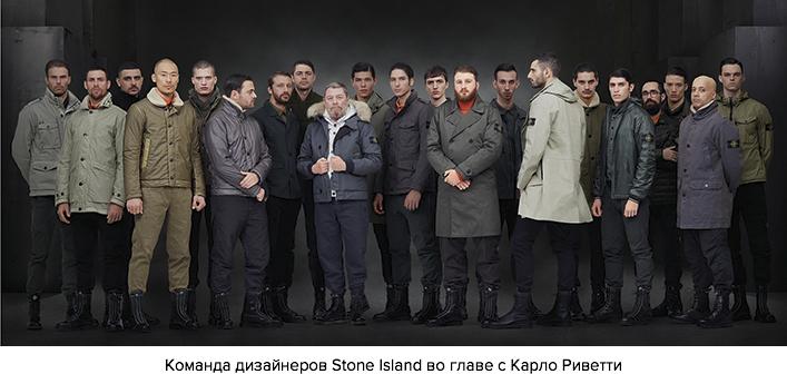 Команда дизайнеров Stone Island