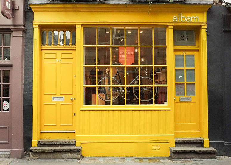 Лондонский магазин Albam по адресу 23 Beak St, Soho