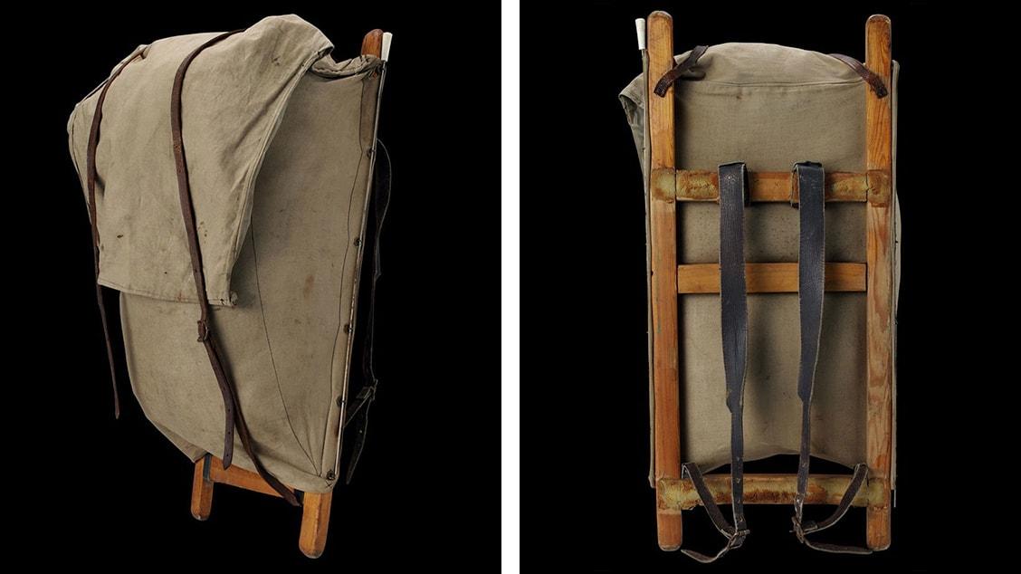 Один из первых рюкзаков с жесткой рамой, созданный Аке Нордином