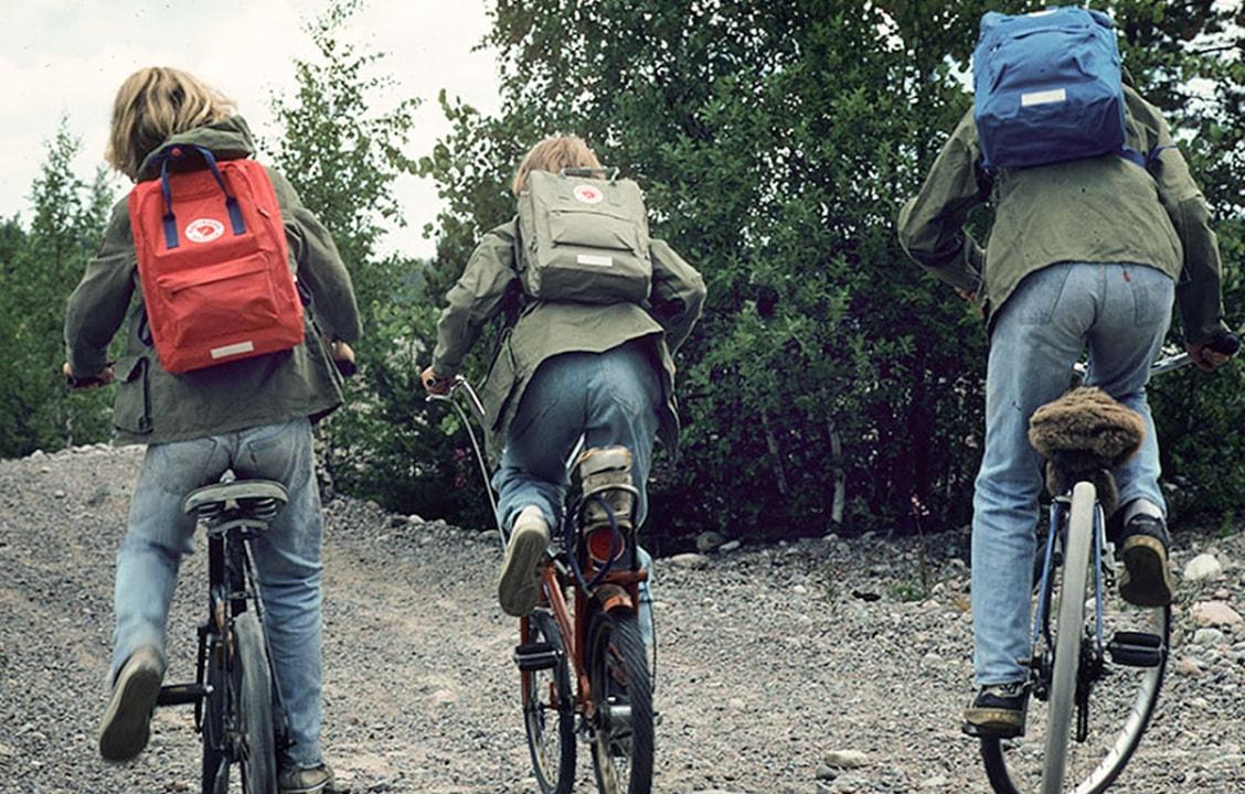 Шведские дети с рюкзаками Fjällräven Kånken