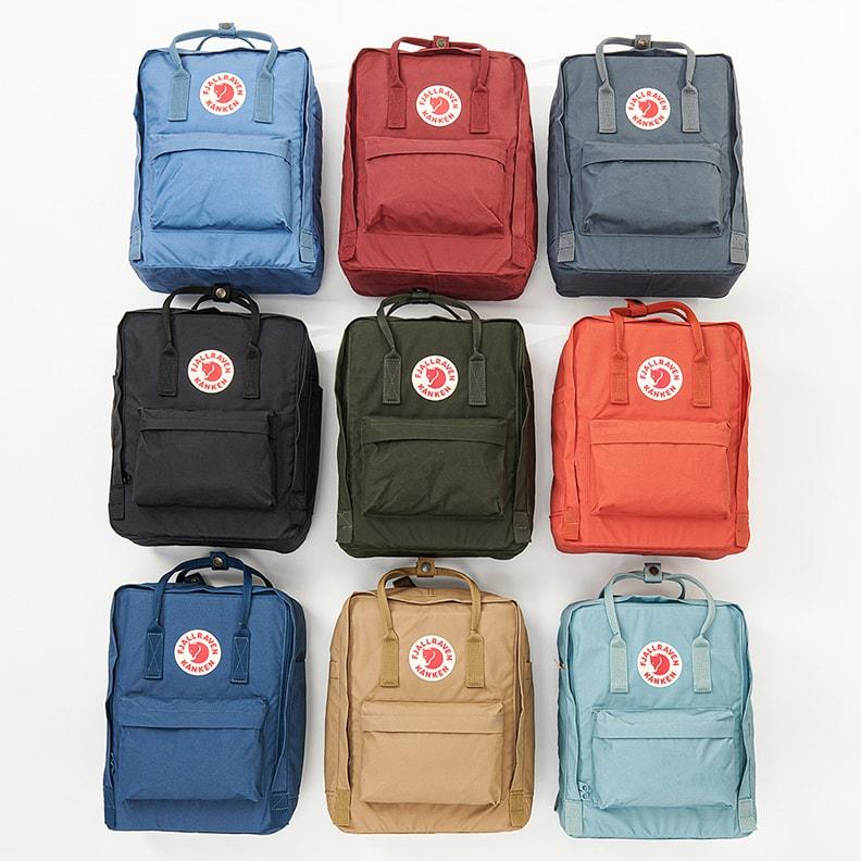 Разнообразие цветовых решений рюкзаков Kånken