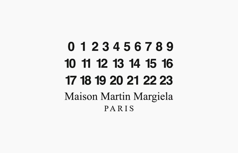 Цифры слейбла Maison Margiela