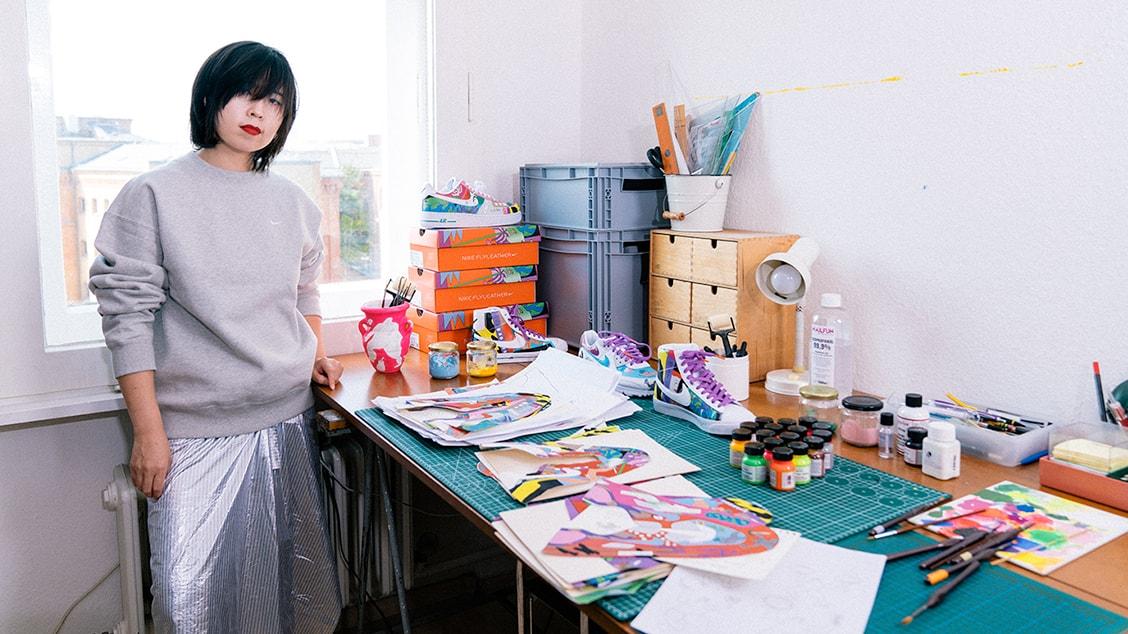Берлинский иллюстратор и автор релиза Руохан Ван