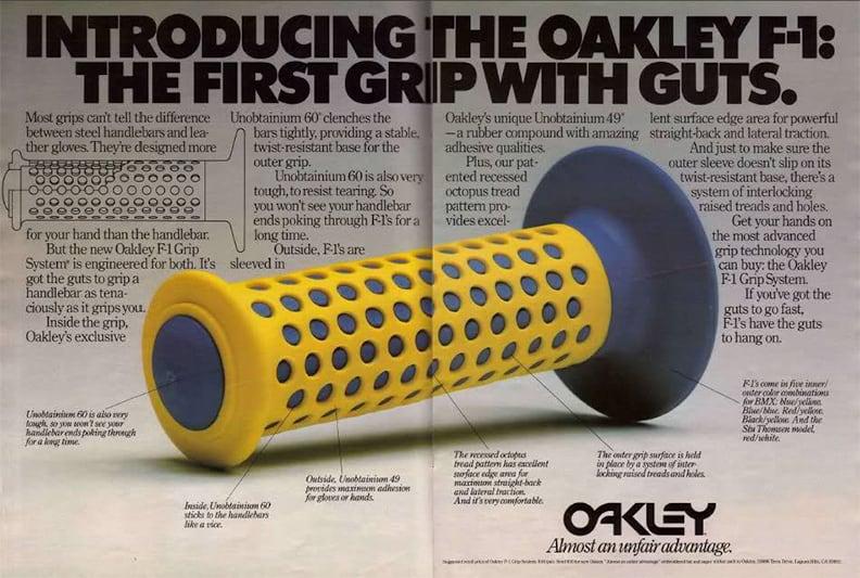 Первый продукт бренда — мотоциклетные ручки The Oakley Grip