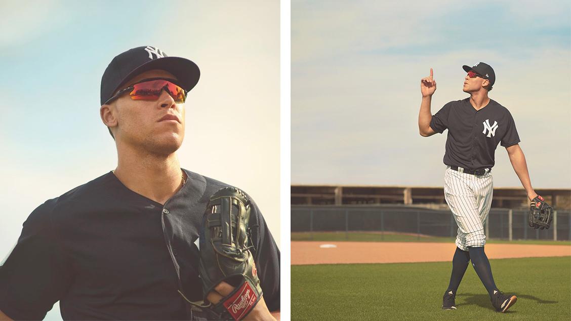 Атлет Oakley и бейсболист «Нью-Йорк Янкиз» Аарон Джадж в модели Radar