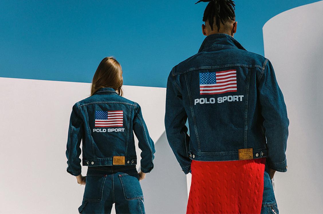 Новый подход к архивам: джинсовые куртки Polo Sport с американским флагом