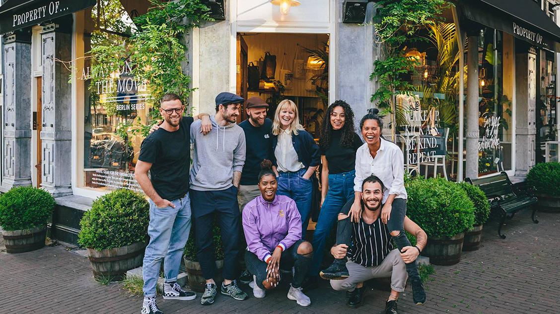 Команда бренда в пространстве Property Of… в центре Амстердама