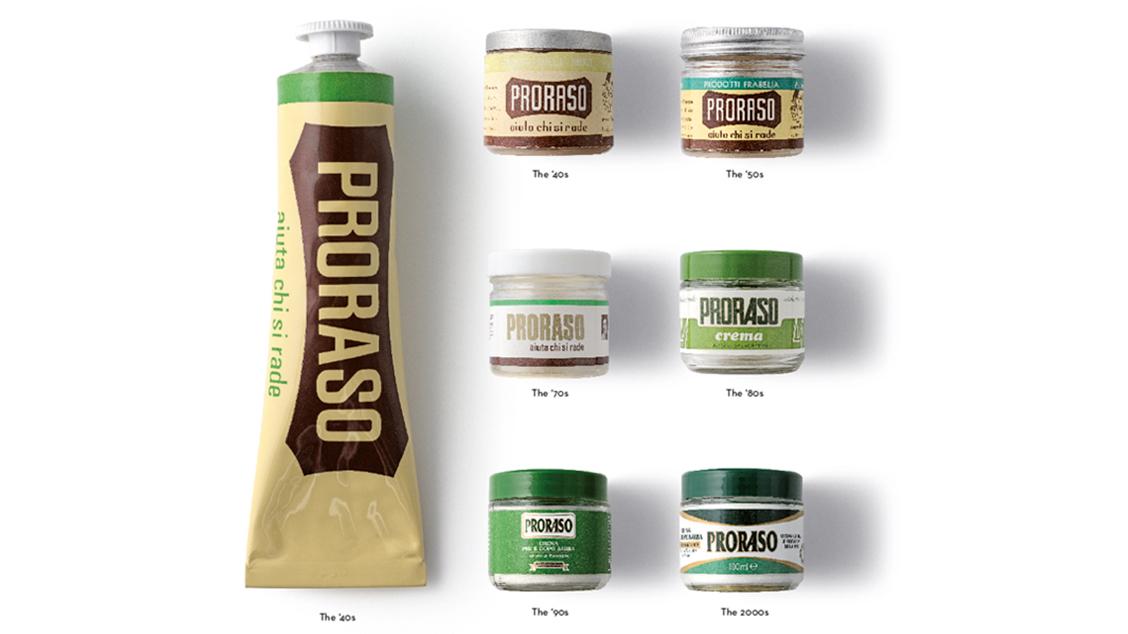 Эволюция продукции и упаковки на протяжении всей истории марки