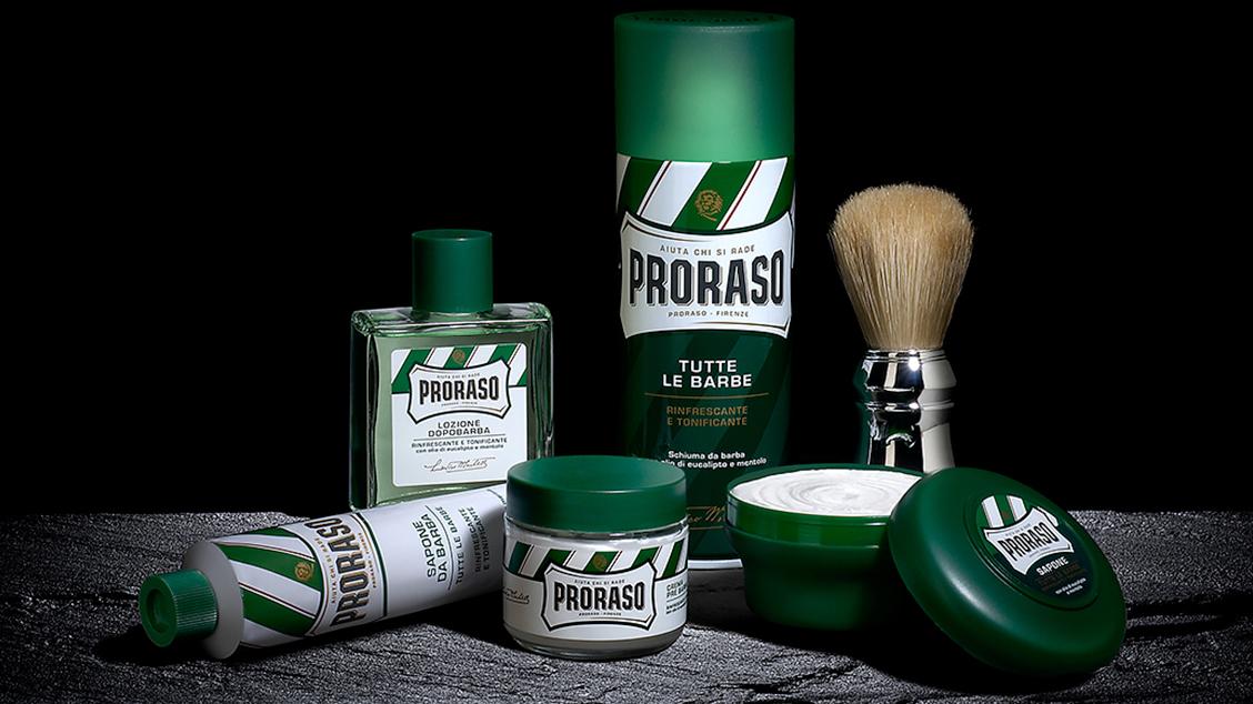 Главное место в коллекциях бренда занимает линия «Green», с которой началась история Proraso