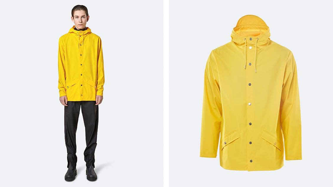 Мужская куртка дождевик Rains Jacket Yellow