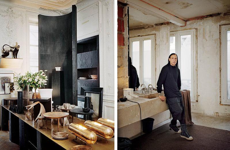 Рик Оуэнс в своём парижском доме-студии