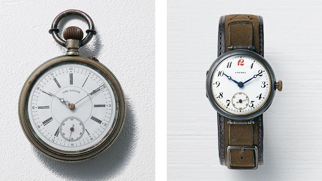 Первые карманные и наручные часы Seikosha