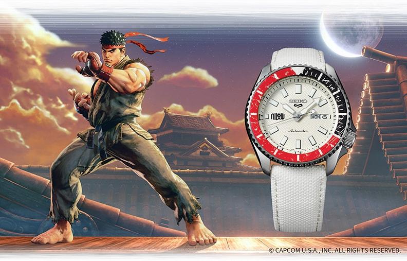 Наручные часы Seiko x Street Fighter V Seiko 5 Sports 42mm Ryu