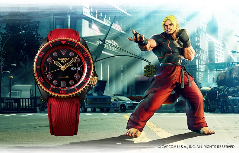 Наручные часы Seiko x Street Fighter V Seiko 5 Sports 42mm Ken