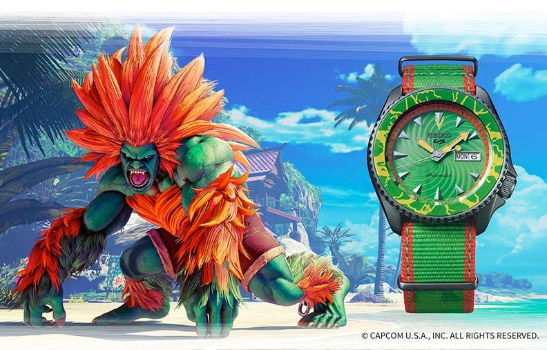 Наручные часы Seiko x Street Fighter V Seiko 5 Sports 42mm Blanka