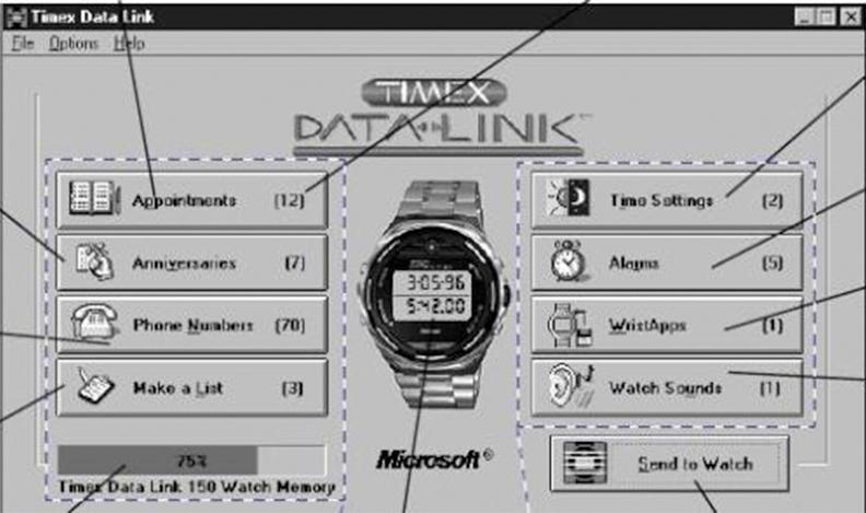 Data Link – `умные` часы разработанные Timex и Microsoft