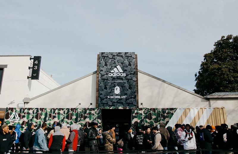 Поп-ап стор adidas × BAPE в Атланте