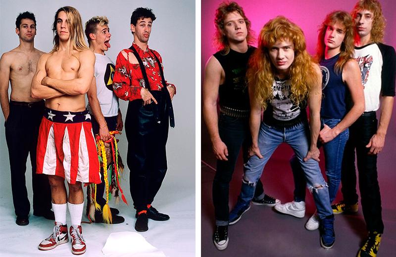 Группа Red Hot Chili Peppers и Megadeath в кроссовках Air Jordan 1