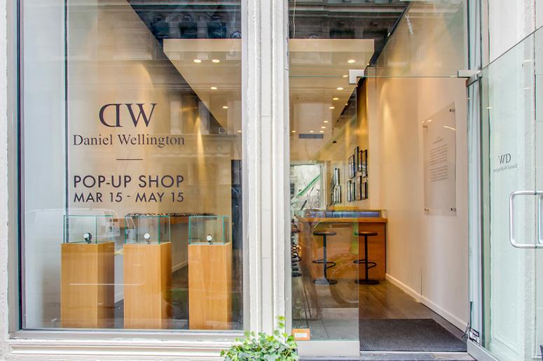 Поп-ап магазин Daniel Wellington в Нью-Йорке