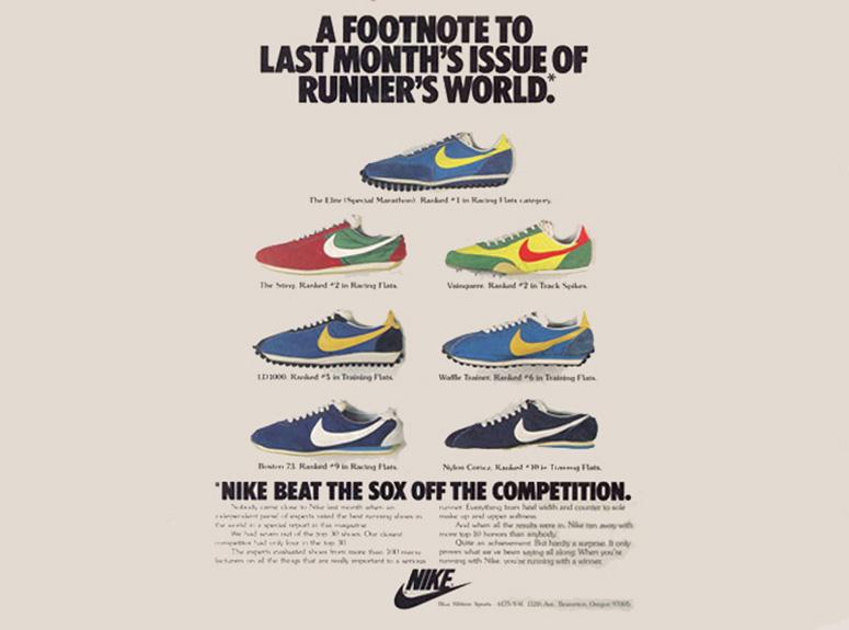Винтажная реклама Nike Cortez