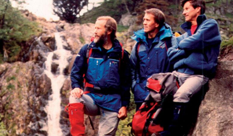 Альпинисты вэкипировке отBerghaus, 80-е