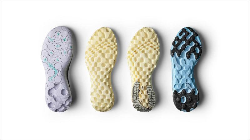 Процесс эволюции подошвы кроссовок Nike React Element87