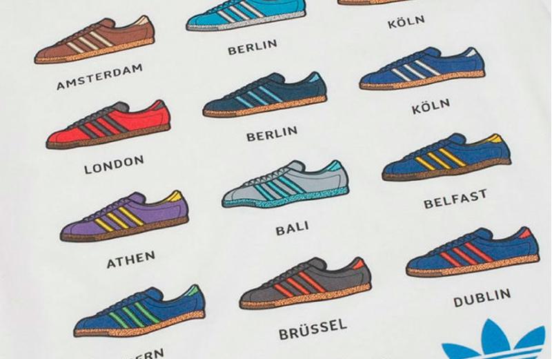 Небольшая часть кроссовок adidas City Series