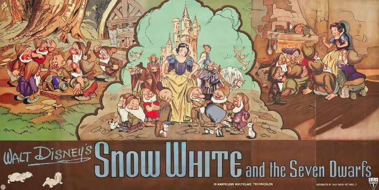 Оригинальный постер кзапуску мультфильма в1937 году