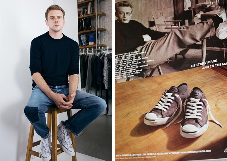 Андерсон вкедах изновой коллаборации иодна изрекламных кампаний Converse сДжеймсом Дином