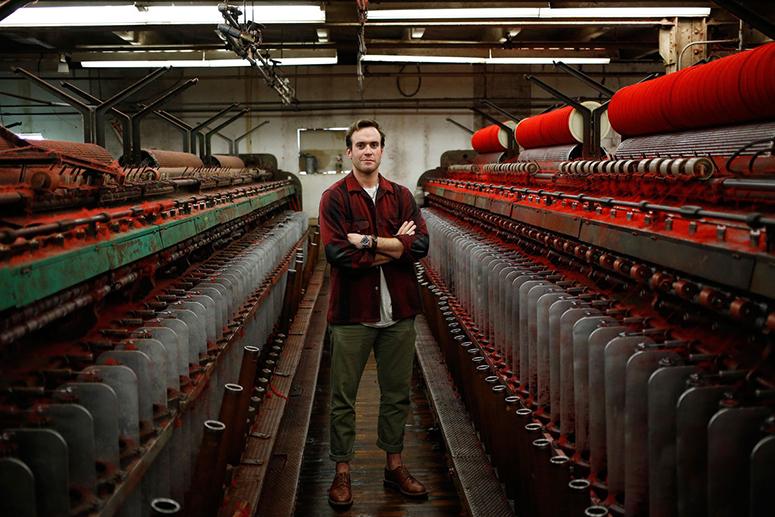Джош Рич на фабрике семейного бренда Woolrich