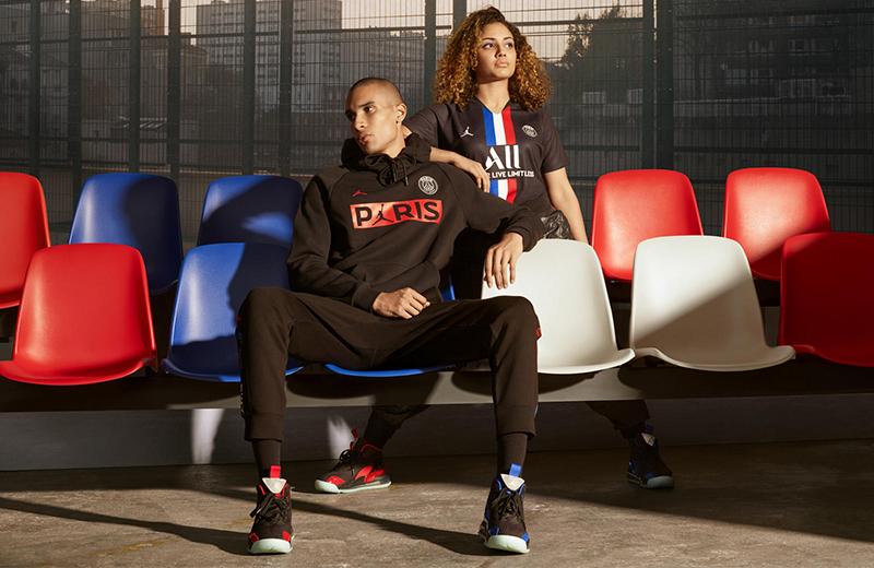Одежда и кроссовки из новой совместной коллекции Jordan Brand и «Пари Сен-Жермен» сезона 2019-20