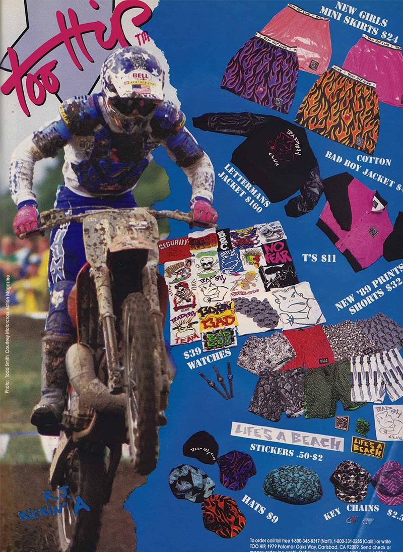 Реклама коллекции Life's aBeach 1989 года