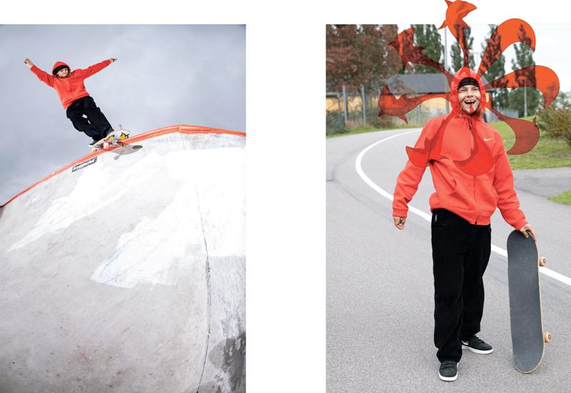 Шведский скейтбордист OSKi